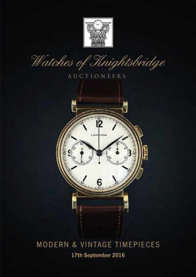 Watches of Knightsbridge 17 September Sale