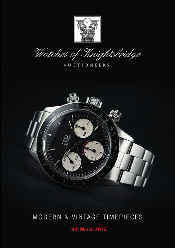 Watches of Knightsbridge 19 March 2016 catalogue