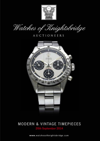 Watches of Knightsbridge, 20 September 2014