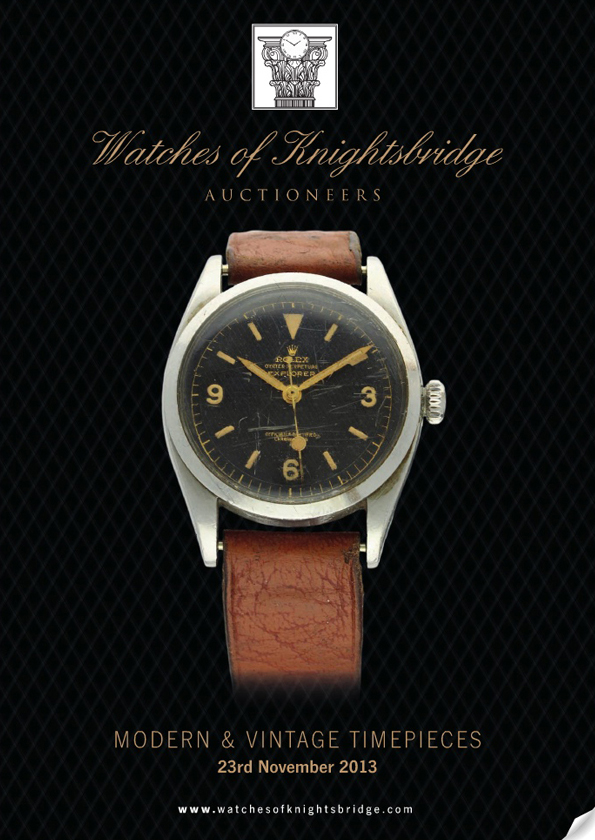 Catalogues Watches of Knightsbridge