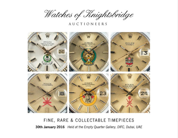WOK FINE, RARE & COLLECTABLE TIMEPIECES 30th January 2016